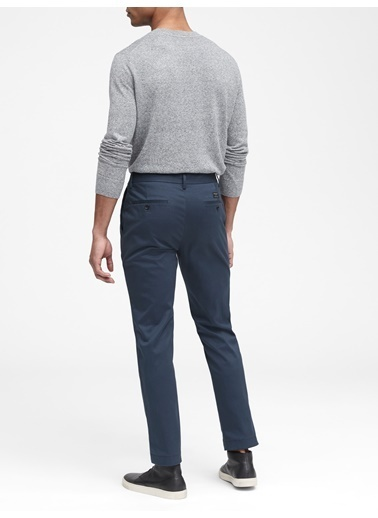 Banana Republic Aiden Slim Fit Chino Pantolon Mor